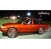 Candy Orange Ford Crown Vic On 28 DUB Hurricayne Floaters