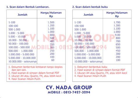 Murah Ok Isi 3 tempat scan dokumen aman dan murah percetakan