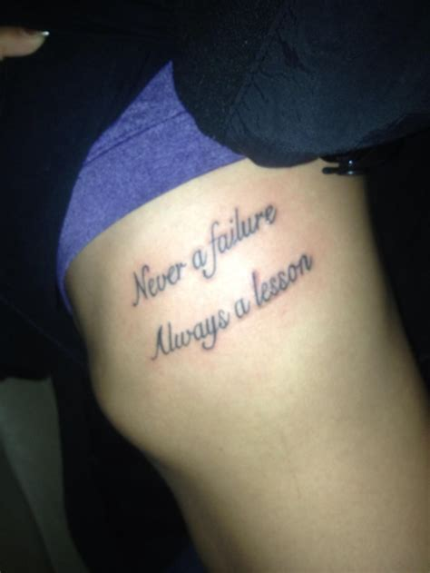 never a failure always a lesson tattoo new