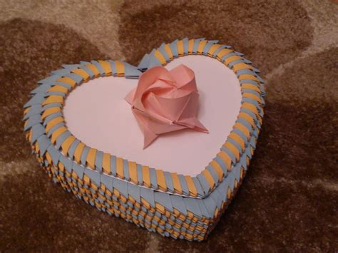 3d origami jewellery box tutorial 3d origami heart box tutorial youtube