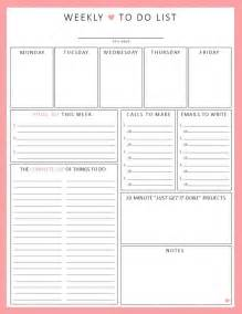 diy to do list template weekly to do list 1sheet printable by lizzieloucreations