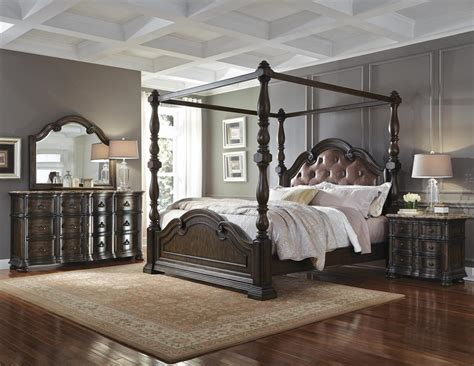 pulaski bedroom set pulaski furnishing cortina 4 pc canopy bedroom set