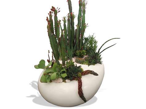 river rock table top fiberglass planter plantersetc