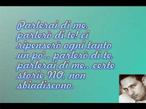 parlerai di me testo gianluca capozzi parlerai di me testo lyrics