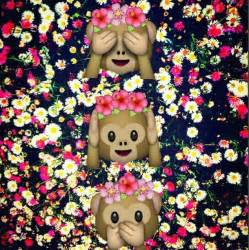 beautiful cool emoji flores monkey monos whatsapp
