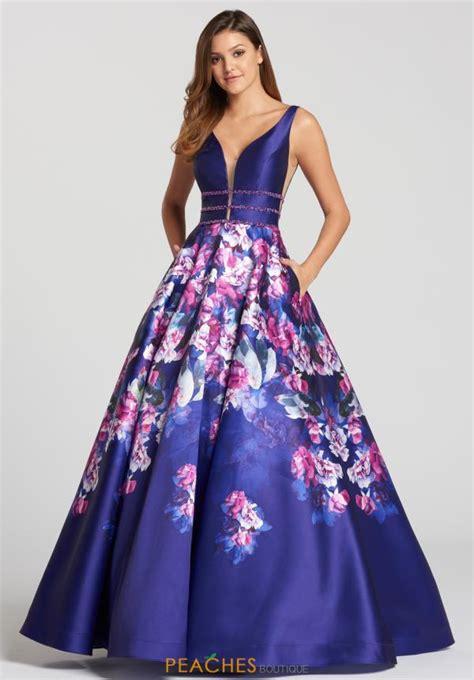 Id 877 Blue Flower Dress ellie wilde dress ew118006 peachesboutique