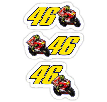 Sticker Vr46 07 free moto gp valentino stickersstickers