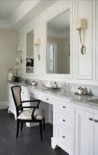 Bathroom Makeup Vanities Built In Make Up Vanity Transitional Bathroom Mcdougald Design