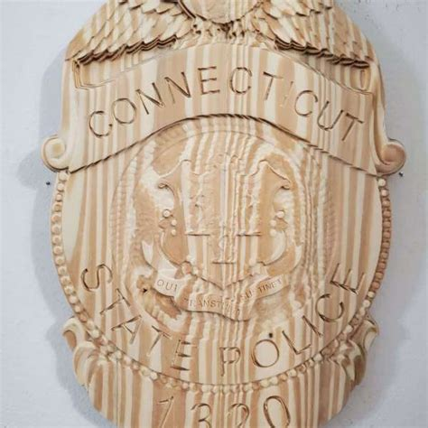custom personalized connecticut state police trooper badge