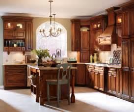 Alder kitchen cabinets by kemper cabinetry