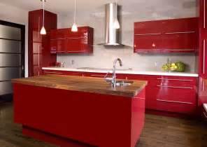 Sunflower Kitchen Decorating Ideas Cuisine Rouge Et Grise Qui Incarne L Id 233 E D Une Vie Moderne