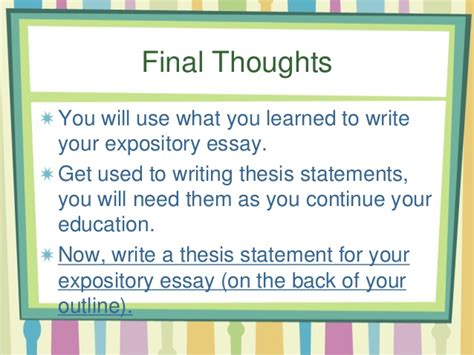 thesis statement about continuing education thesis statement