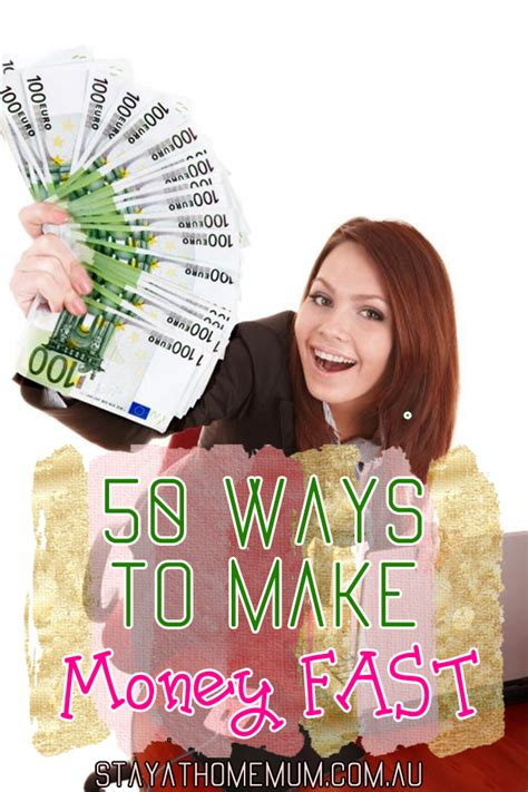 Online Ways To Make Money Fast - 50 ways to make money fast stay at home mum