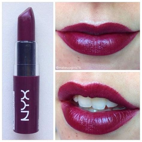 Lipstik Nyx Merah Maroon nyx butter lipstick licorice quot it can look really scary and in the but once on the