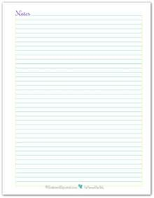 Notes Page Template by Note Page And To Do List Printables Reader Request