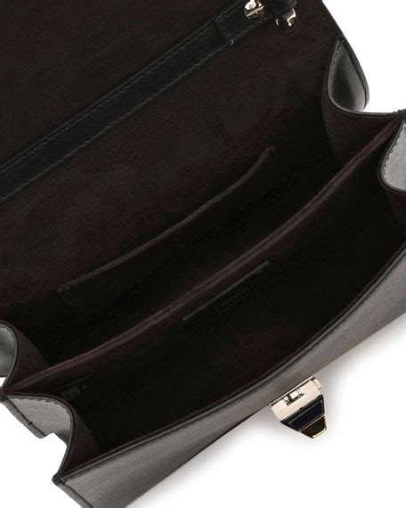 C K Push Lock Shoulder Bag fendi kan i mini leather chain shoulder bag black