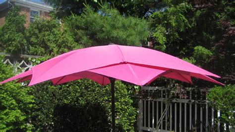 Pink Patio Umbrella Lotus Patio Umbrella Crank Lift Aluminum Frame 10 Fiberglass Ribs Pink New Ebay