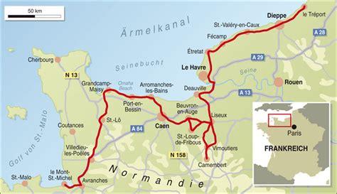 Motorrad Tour Normandie by Frankreich Spezial Normandie Info Karte Tourenfahrer Online
