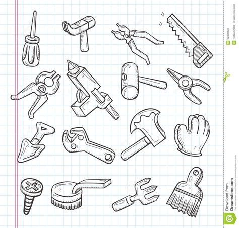 how to use doodle kit doodle tools icon stock vector image of icon hacksaw