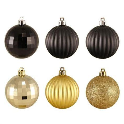 black gold christmas ornaments 100ct black gold 3 finish shatterproof ornaments 2 5 quot 60mm decor