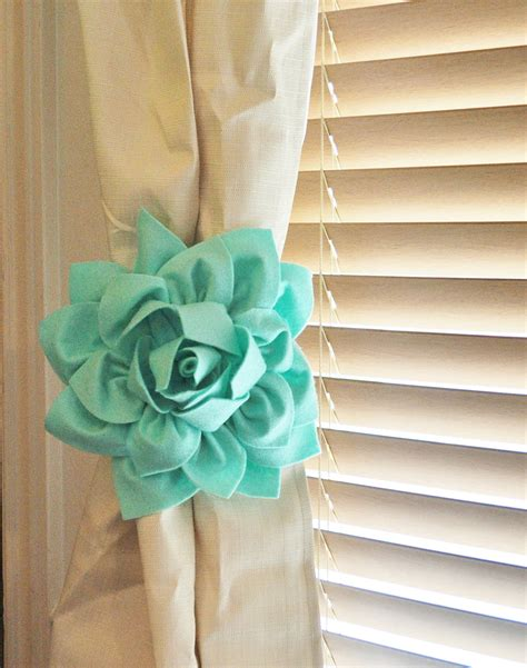 tie back curtains without hooks two dahlia flower curtain tie backs curtain tiebacks curtain