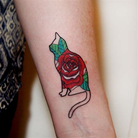 how much for a rose tattoo cat by channer me at toronto