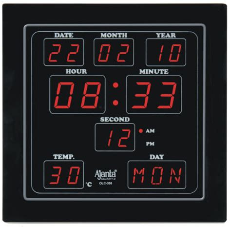 buy digital clock ajanta digital wall clock price in india buy ajanta