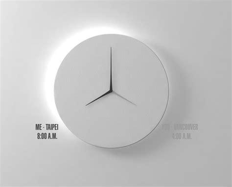 design wall clock d dual time wall clock design milk