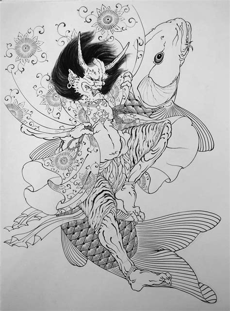 dragon koi done at studio lotus cinas sp brazil 25 b 228 sta traditional japanese tattoos id 233 erna p 229 pinterest