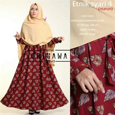 baju muslim wanita hijabs set etnik syari dan khimar busui terbaru quality yogyakarta