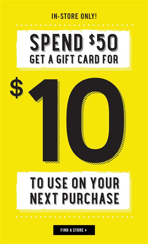 forever 21 get 10 gift card when you spend 50 in store nov 15 to 20