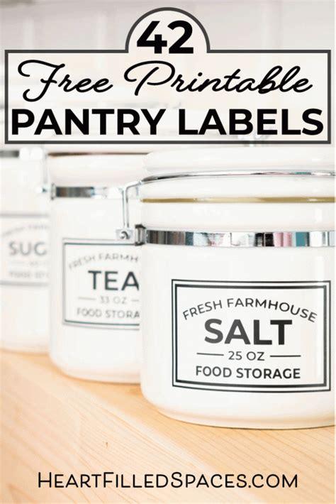 printable kitchen pantry labels  food storage