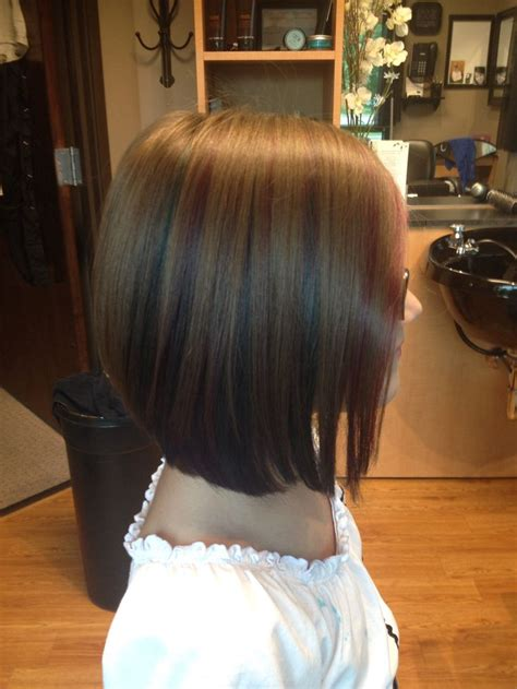 Kids Angle Haircut | pravana vivids on non bleached hair long angled bob