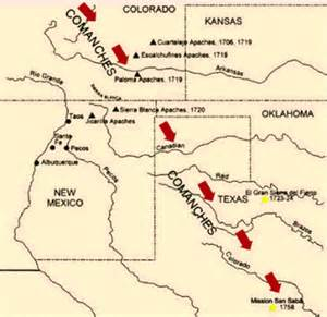 comanche indians map pictures to pin on