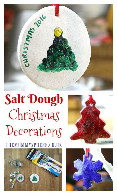 how to make salt dough christmas decorations with kids