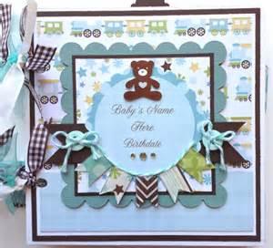Baby Scrapbook Album Scrapbook Mini Album Baby Boy Premade Personalized
