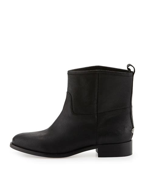 jimmy choo harley flat ankle boot in black lyst