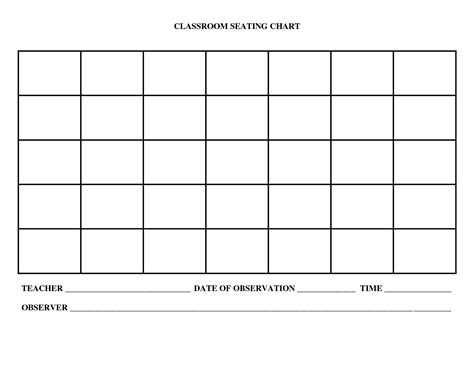 blank chart template seating charts classrooms blank images