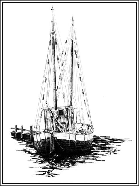 boat drawing prints boat drawing fishing boats and boats on pinterest