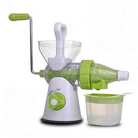 Etrue Cranked Healthy Juicer Green Jj5c manual crank single auger juicer home manual juicer