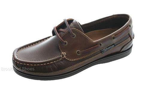 seafarer helmsman leather boat deck shoes brown size 10 ebay