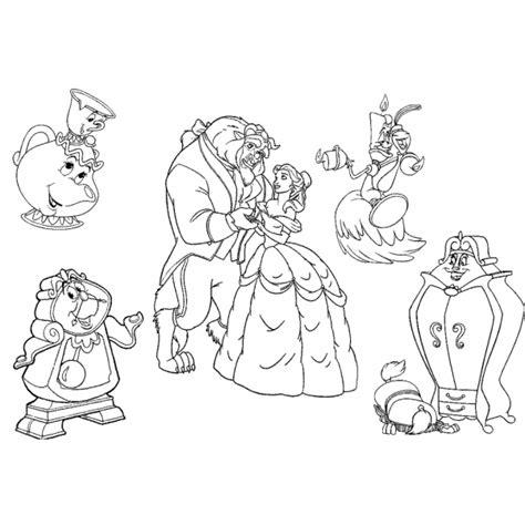 e la bestia personaggi disegno di i personaggi de la e la bestia da