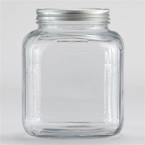 Clear Glass Kitchen Canisters fart in a jar