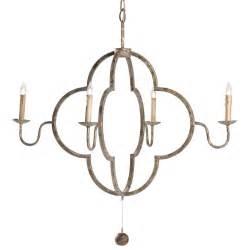 quatrefoil light fixture lewis quatrefoil country chipped gold chandelier