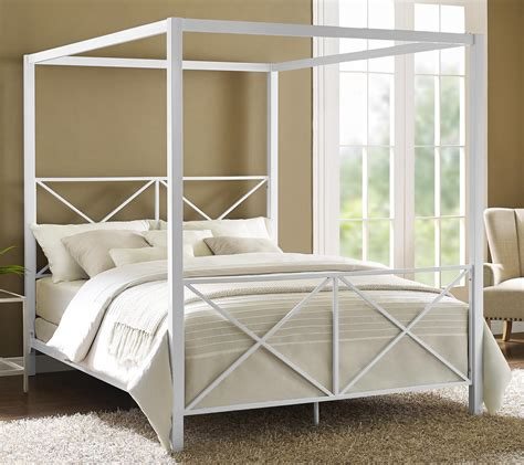 metal canopy bed frame fashion bed group sylvania canopy bed hayneedle within