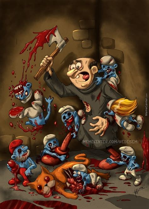the smurfing dead by nedesem meme center