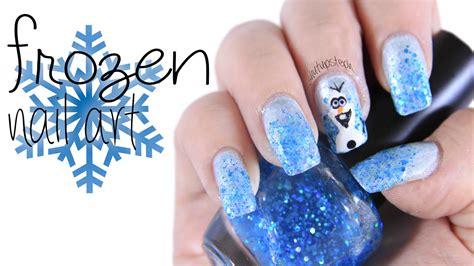 tutorial nail art frozen frozen inspired nail art tutorial youtube