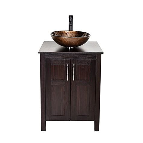 24 inches traditional bathroom vanity set in coffee