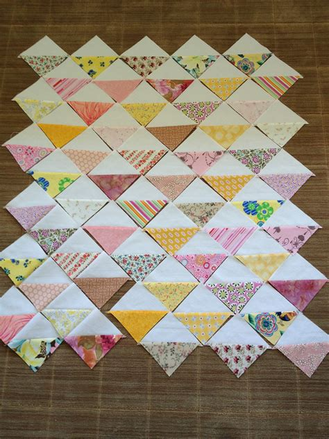 quilt pattern triangle squares missesstitches half square triangle baby quilt