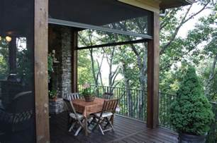 Patio Fly Screens by Retractable Insect Screens At Luxury Mountain Lodge